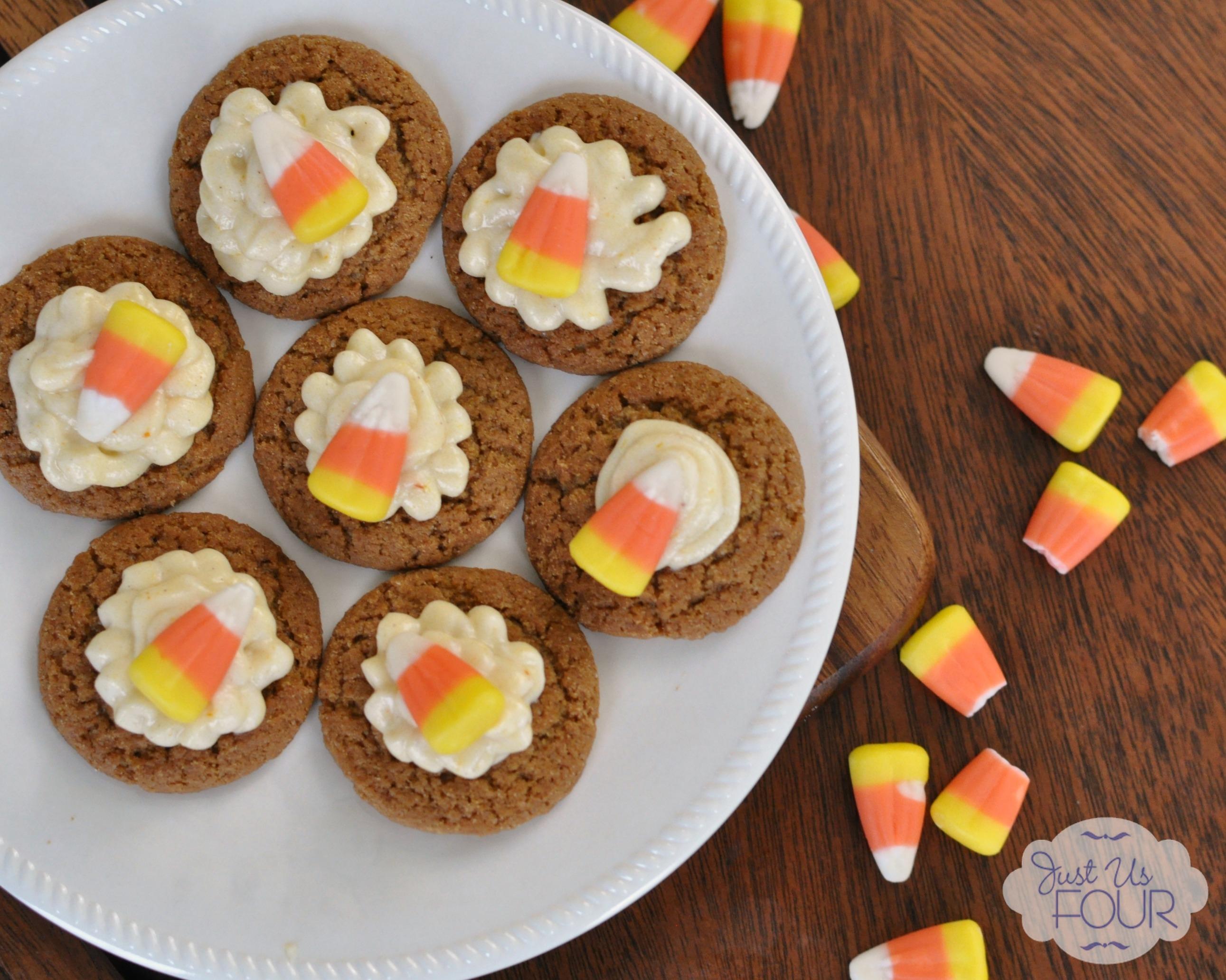 Pumpkin Iced Ginger Snaps - My Suburban Kitchen