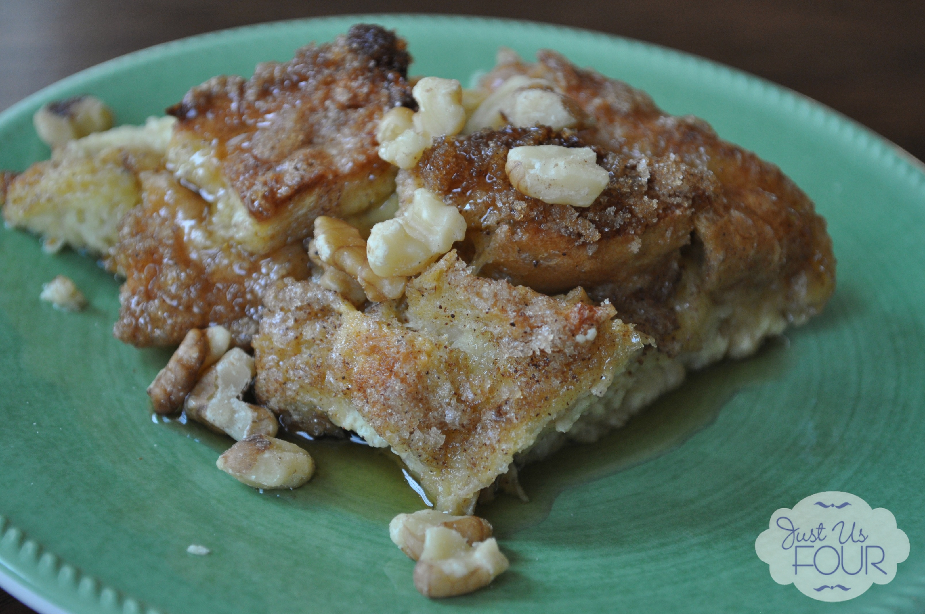 Pumpkin Pie French Toast Casserole Recipe - Just Us Four