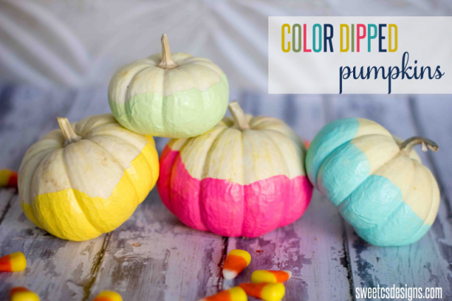 Sweet C's Design - Color Dipped Pumpkins