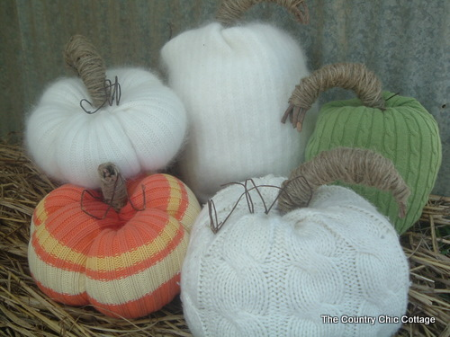 The Country Chic Cottage - Sweater Pumpkins