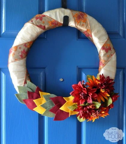 fall felt leaf wreath_wm