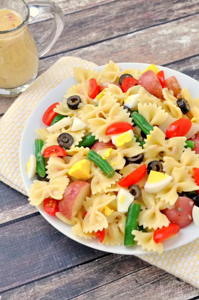 Easy Nicoise Pasta Salad