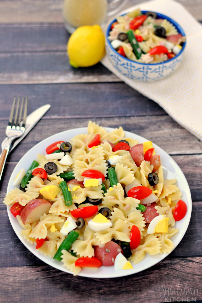 Nicoise Pasta Salad Summer Recipe