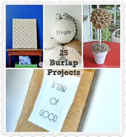 Burlap Project Collage