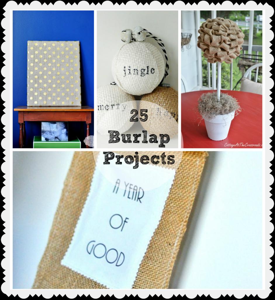 Amazing burlap projects just us four for Burlap crafts