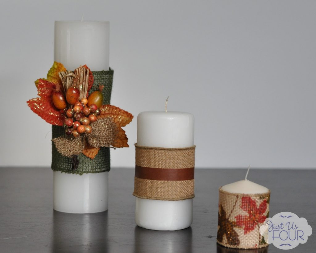 Burlap Wrapped Candles Wide View_wm