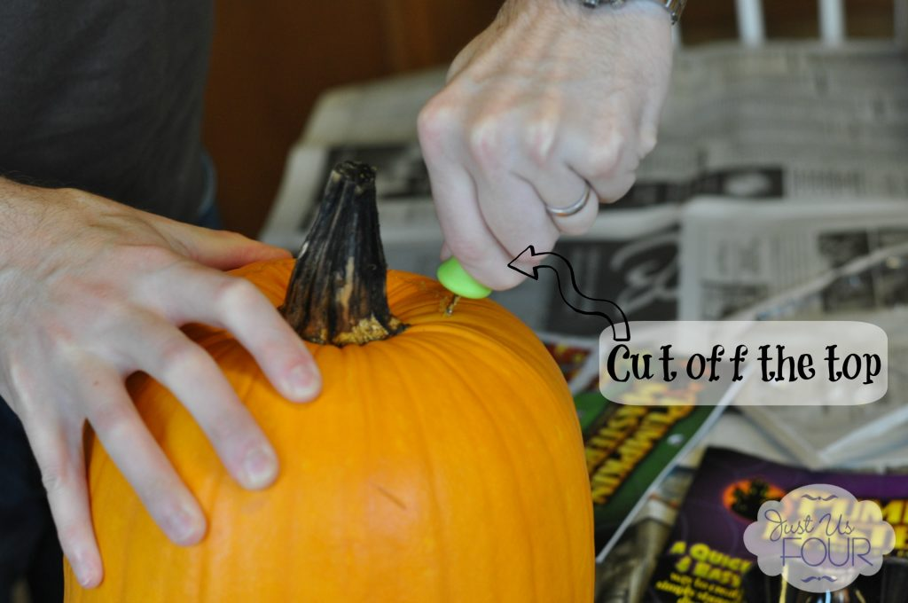 Pumpkin cutting with label2_wm