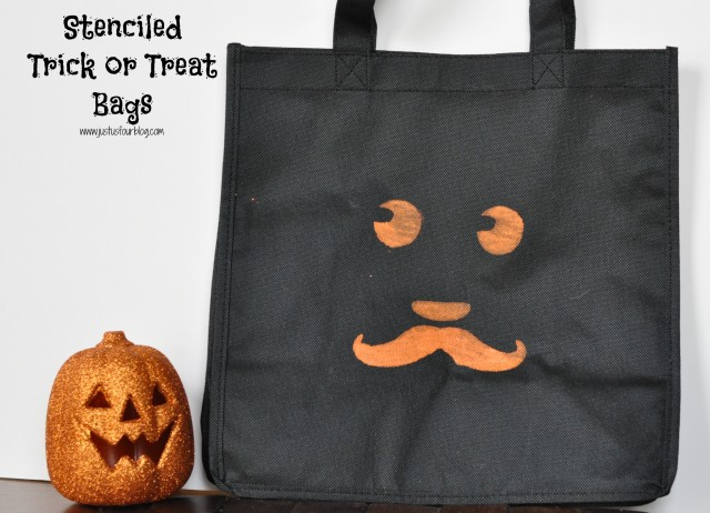 Stenciled Trick or Treat Bags with Label