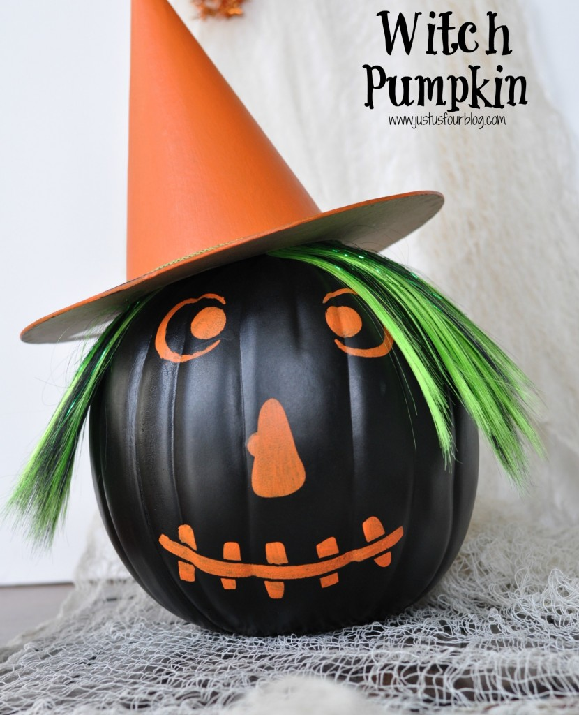Witch Pumpkin with Label