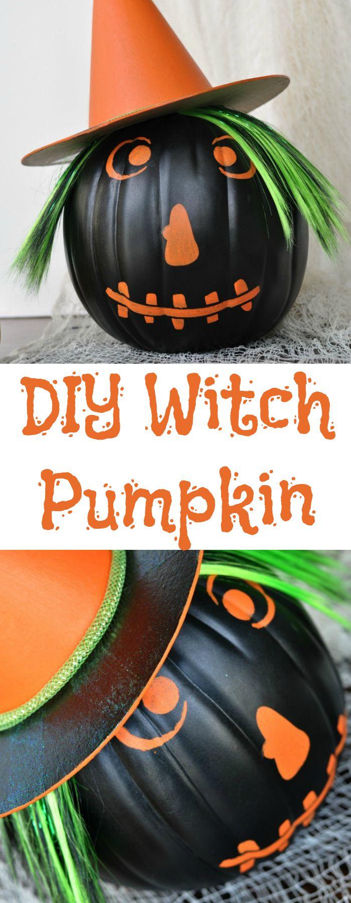 DIY Witch Pumpkin