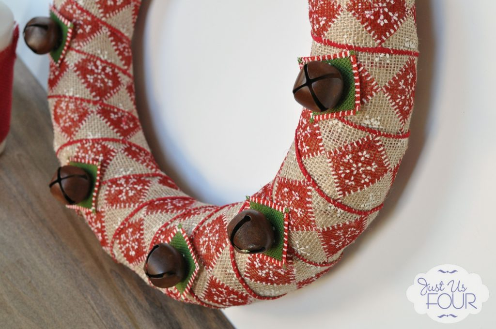 Burlap Bell Wreath Angled View_wm
