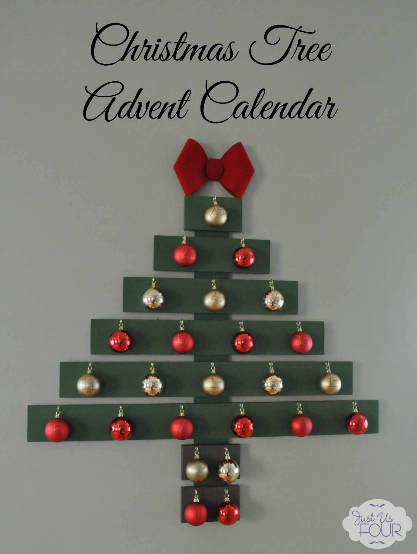 Christmas tree advent calendar my suburban kitchen How to build a wooden advent calendar