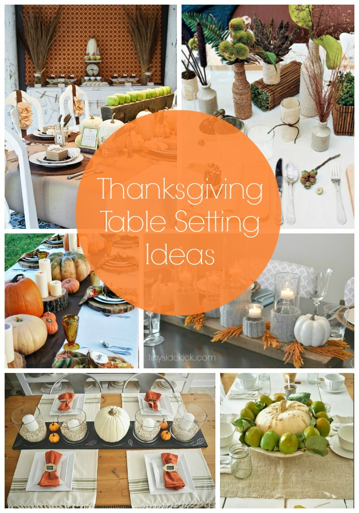 25 great thanksgiving ideas my suburban kitchen for Kitchen table setting ideas