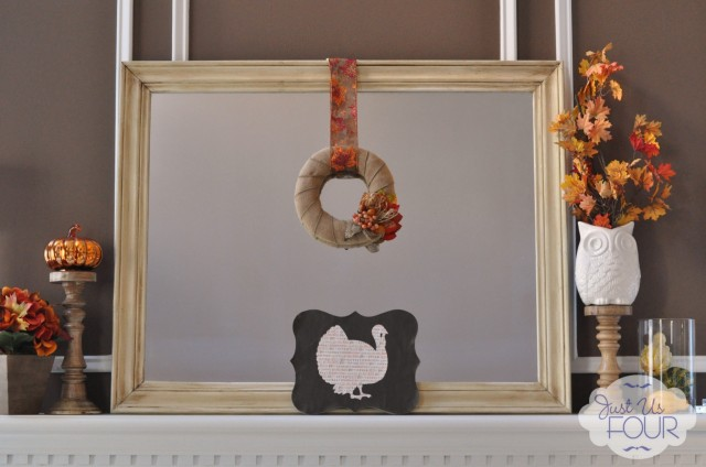 Easy Scrapbook Paper Turkey Art
