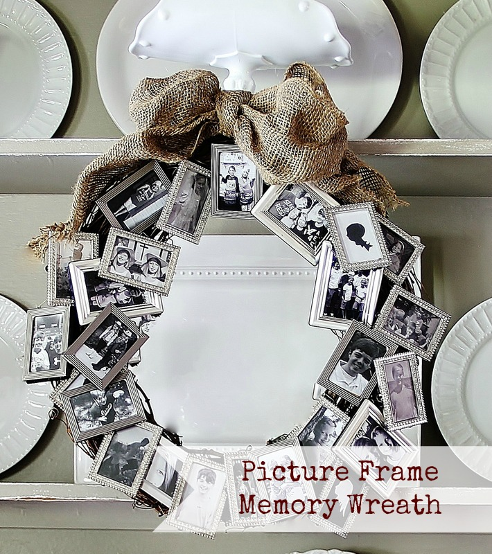 INfarrantly Creative - Picture Frame Memory Wreath