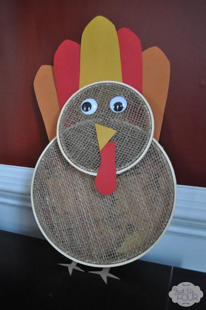 Just Us Four - Embroidery Hoop Turkey