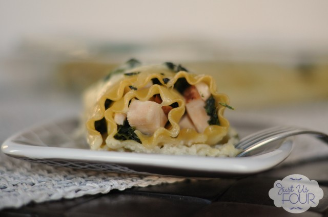 Turkey and Spinach Lasagna Roll Ups