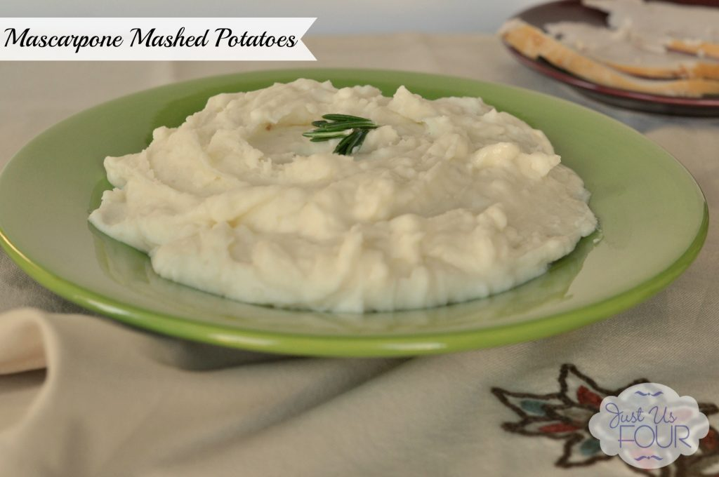 Mascarpone Mashed Potatoes Recipe - Just Us Four