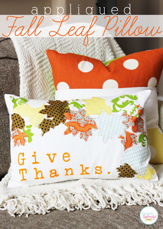 Positvely Splendid - Applique Give Thanks Pillow
