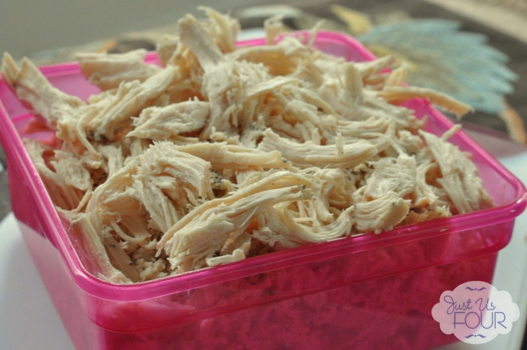 Side view of shredded chicken_wm