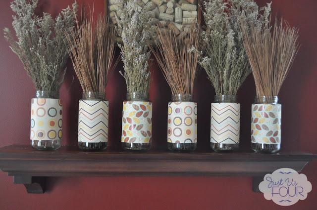 Spaghetti Jar Fall Decorations