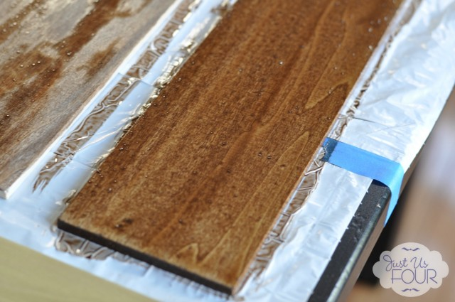 DIY Stained Wood Photo Prop