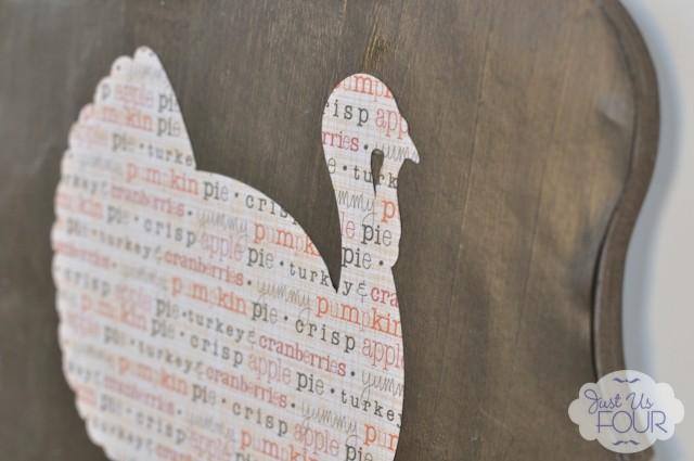 Easy Scrapbook Paper Turkey Art