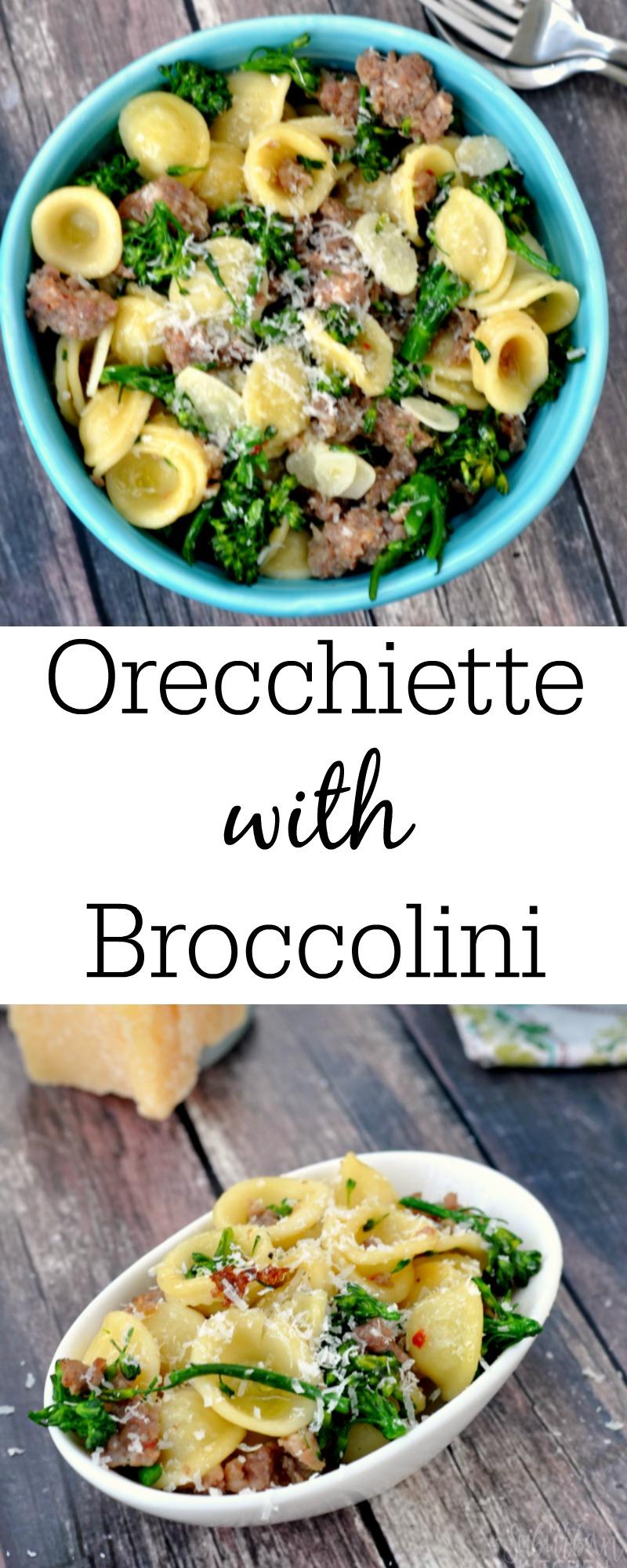 Orecchiette with Sausage and Parmesan