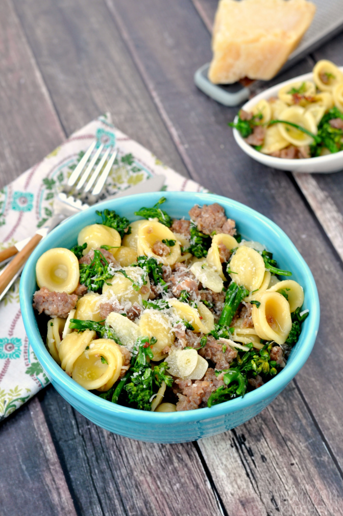 Orecchiette with Sausage and Parmesan