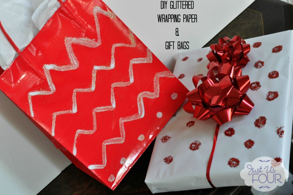 Glittered Wrapping Supplies with Label_wm