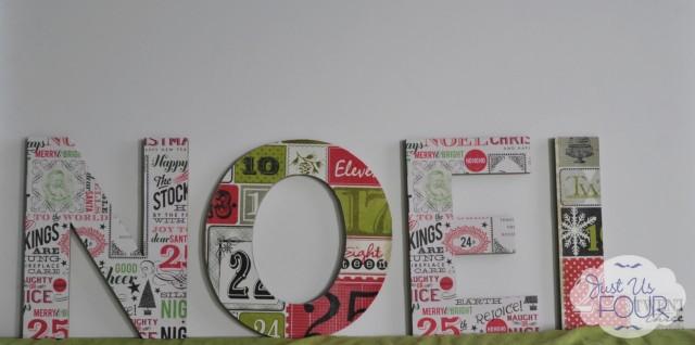 Scrapbook Paper Noel on Green_wm