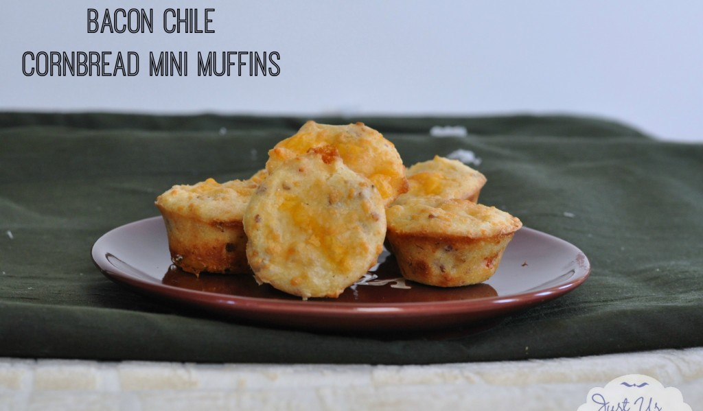 Bacon Chile Cornbread Mini Muffins with Cheese #HolidayButter #shop