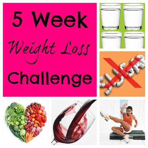 Five Week Weight Loss Challenge #weightloss #diets #exercise