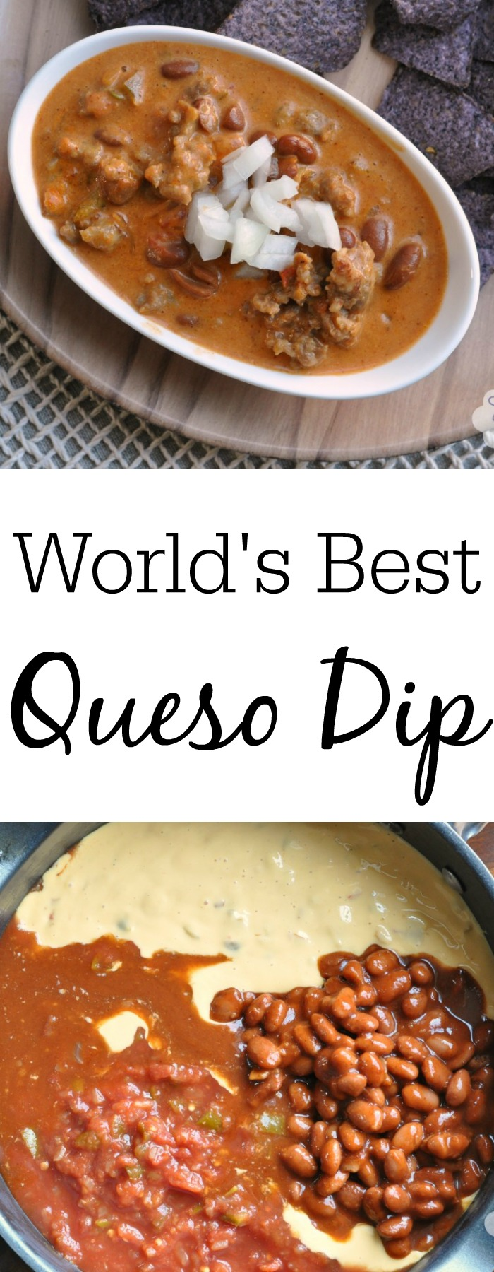 No, I am not exaggerating. This is the world's best queso dip!