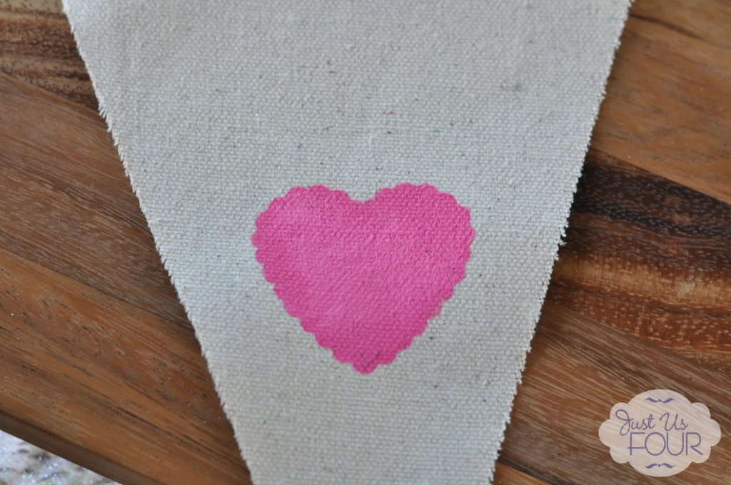 Burlap Pennant with Stencil_wm