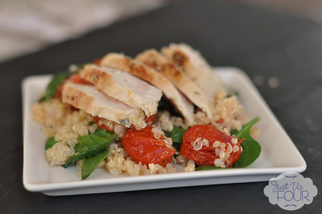 Citrus Chicken Quinoa Salad with Tomatoes_wm