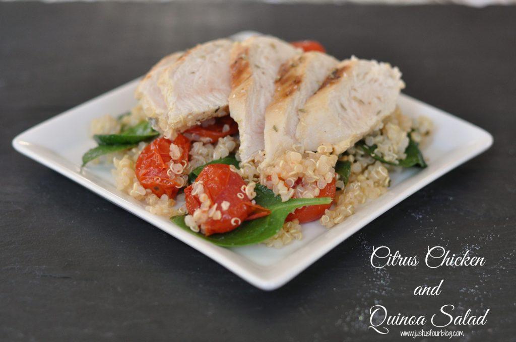Citrus Chicken and Quinoa Salad with Label