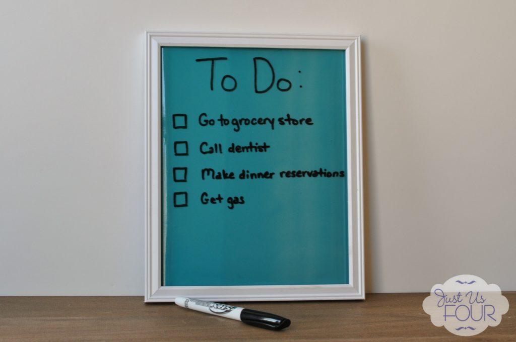 $5 DIY Dry Erase Board #dollarstorecrafts #budgetcrafts #DIYDryEraseBoard