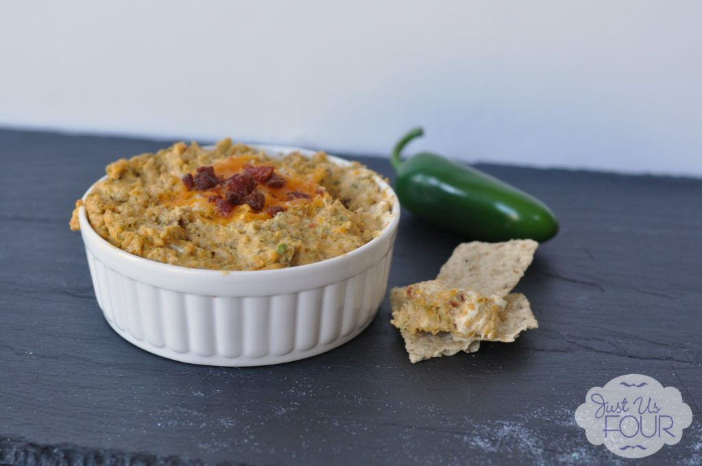 This Jalapeno Popper Dip looks so easy and delicious. Love her idea of making it in the crockpot. #Superbowl #recipes #dips