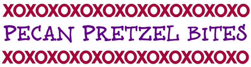 Pecan Pretzel Bites topper