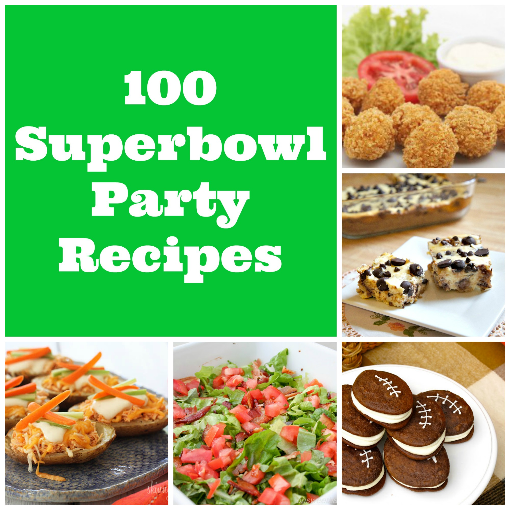 100 Superbowl Party Recipes #superbowl #recipes #roundup