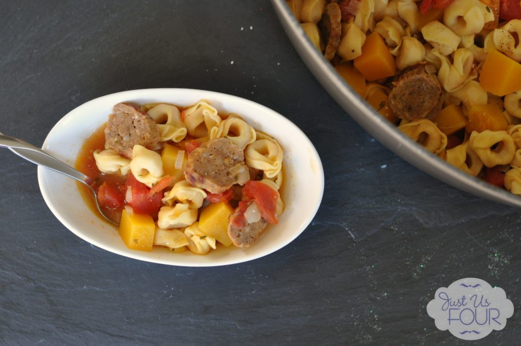Spicy Sausage and Tortellini Soup #soup #recipes #pasta