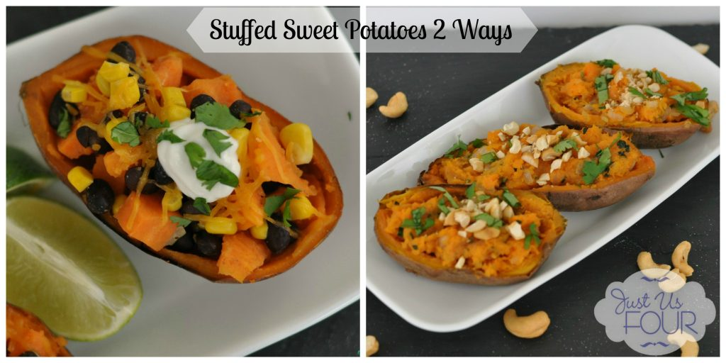 Vegetarian Stuffed Sweet Potatoes #appetizers #recipes #vegetarian