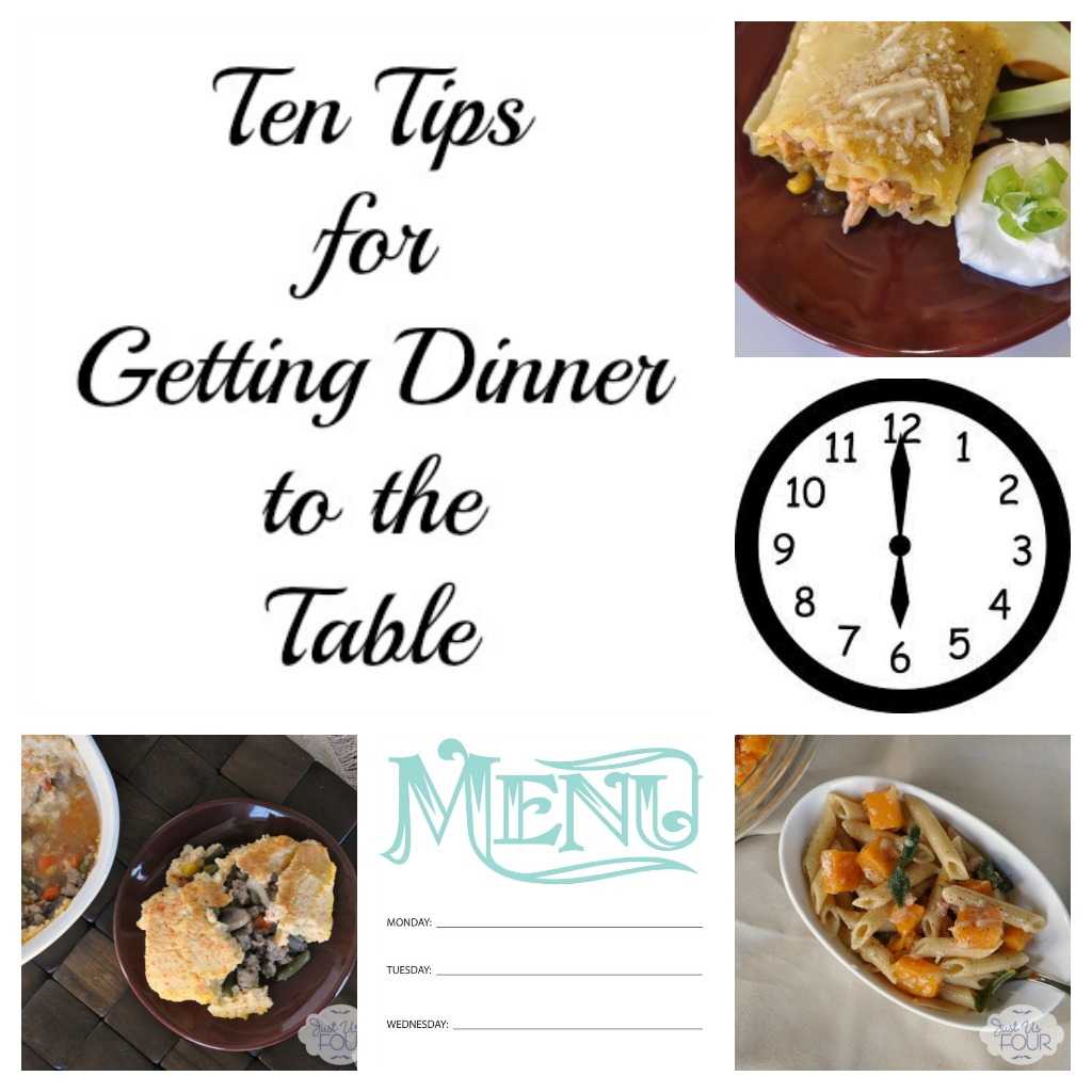 Ten Tips for Getting Dinner to the Table #mealplanning