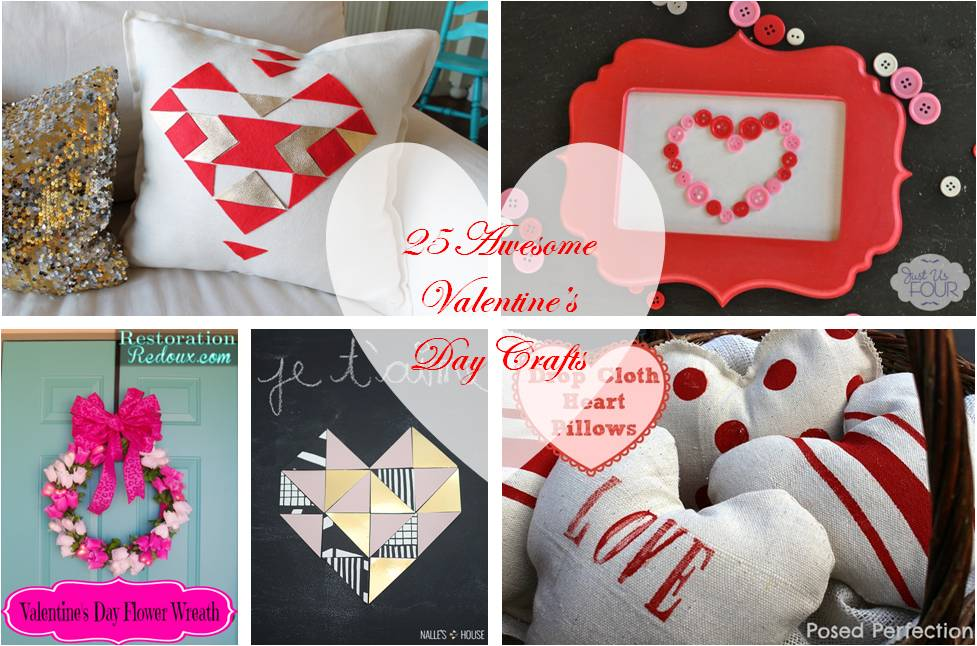 25 Awesome Valentine's Day Craft Ideas #crafts #valentinesday #roundup