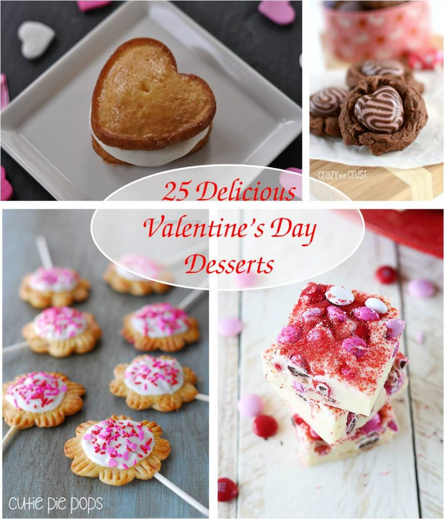 25 Valentine's Day Desserts #valetinesday #desserts #recipes
