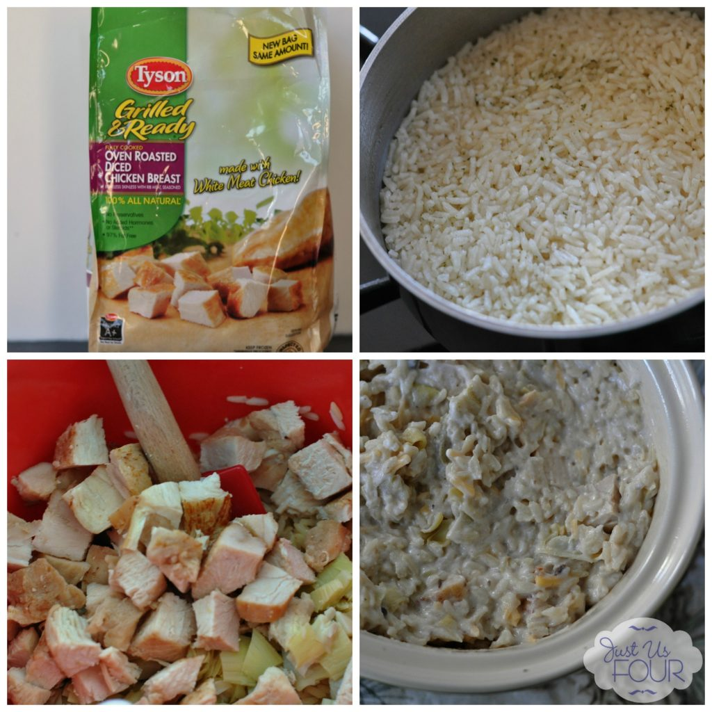 #shop Creamy Chicken and Rice Casserole #JustAddTyson #cbias