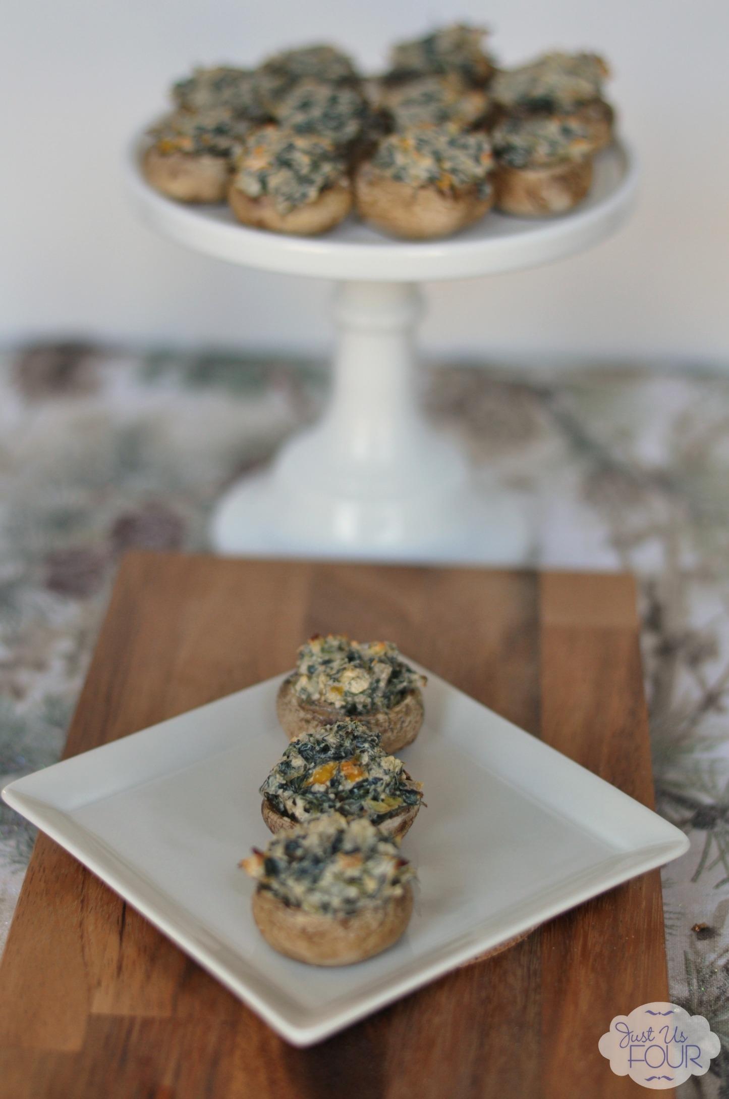 Spicy Spinach Artichoke Stuffed Mushrooms - My Suburban ...