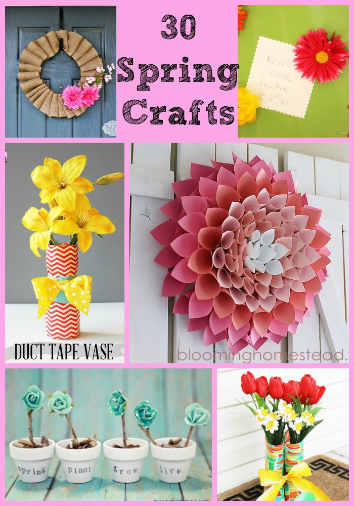 30 Spring Craft Ideas #crafts #roundups #spring