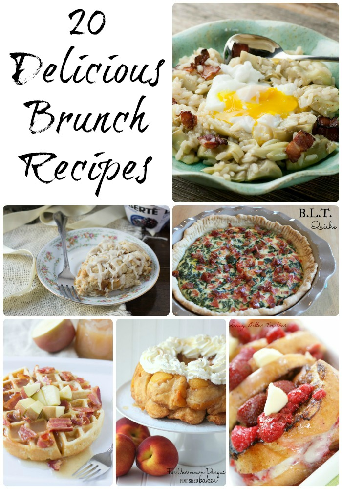 20 Brunch Recipes #recipes #brunch #roundup